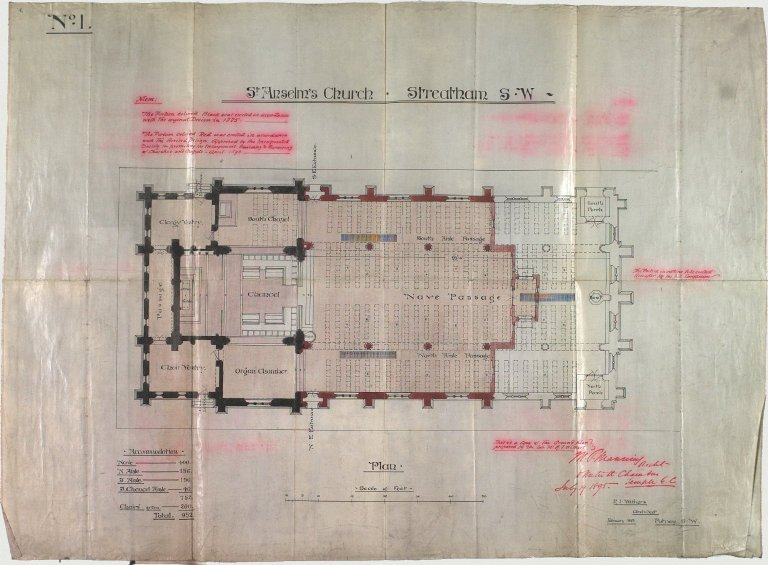 Signed R.J. Withers, Architect