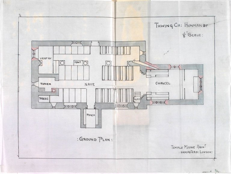 Signed Temple Moore, Architect