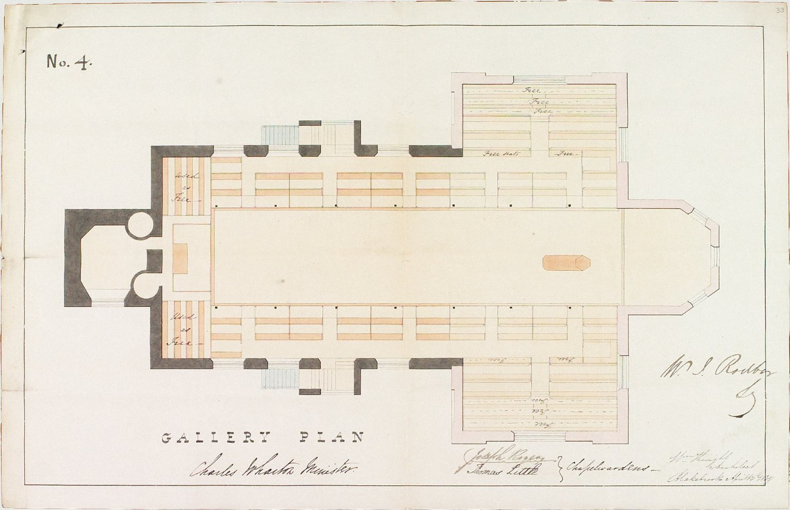 Signed W. Knight, Architect