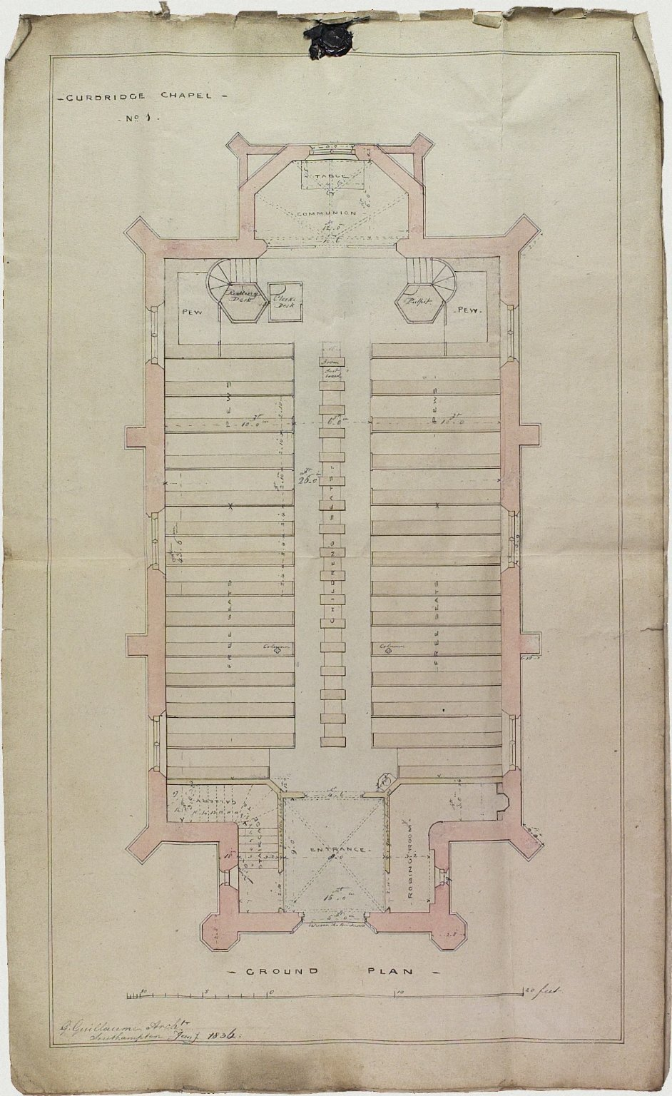 Signed G. Guillaume, Architect