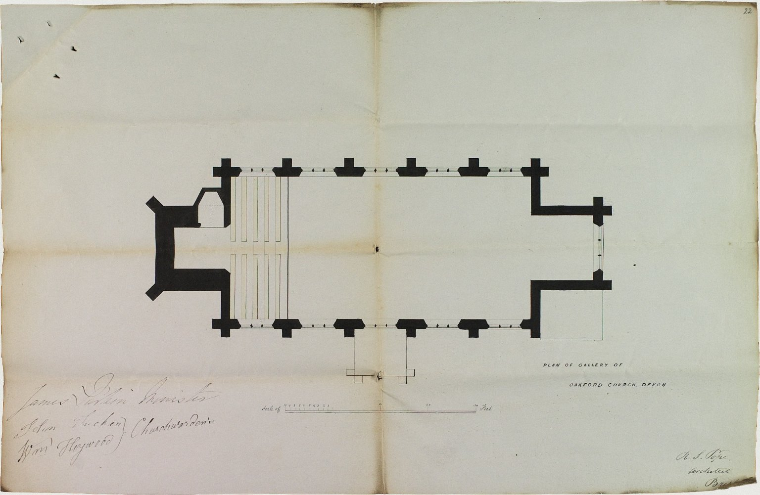 Signed R.S. Pope, Architect