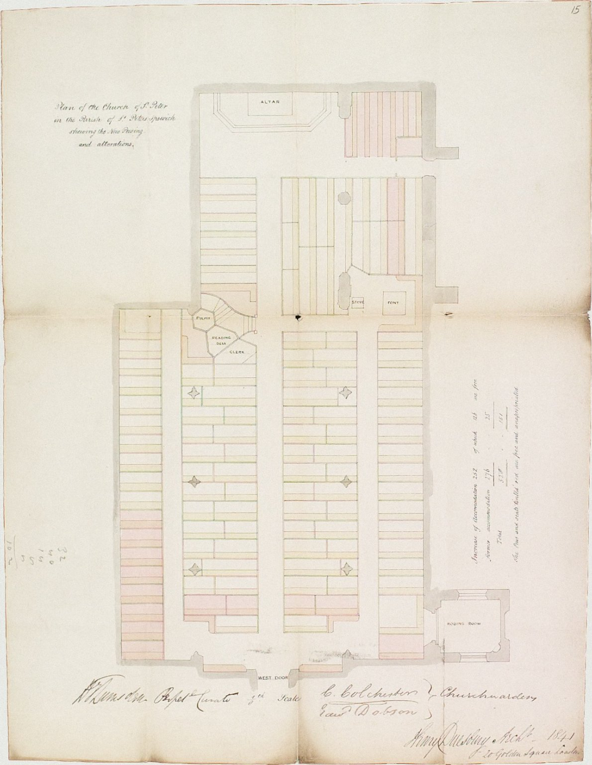 Signed Henry Duesbury, Architect