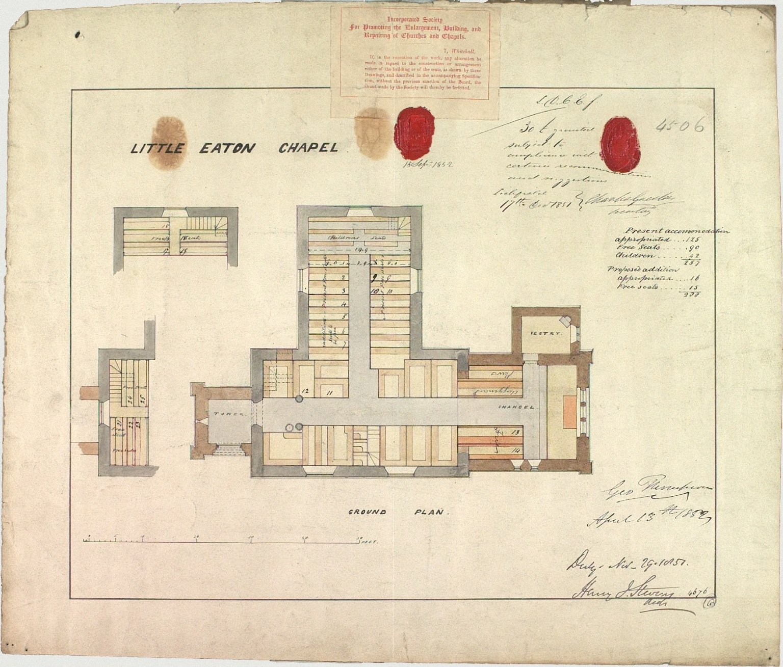Signed Henry I. Stevens, Architect