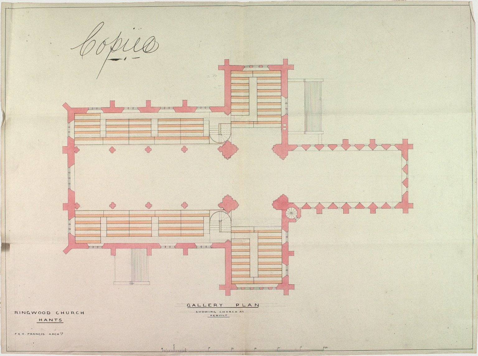 Signed F. & H. Francis, Architects
