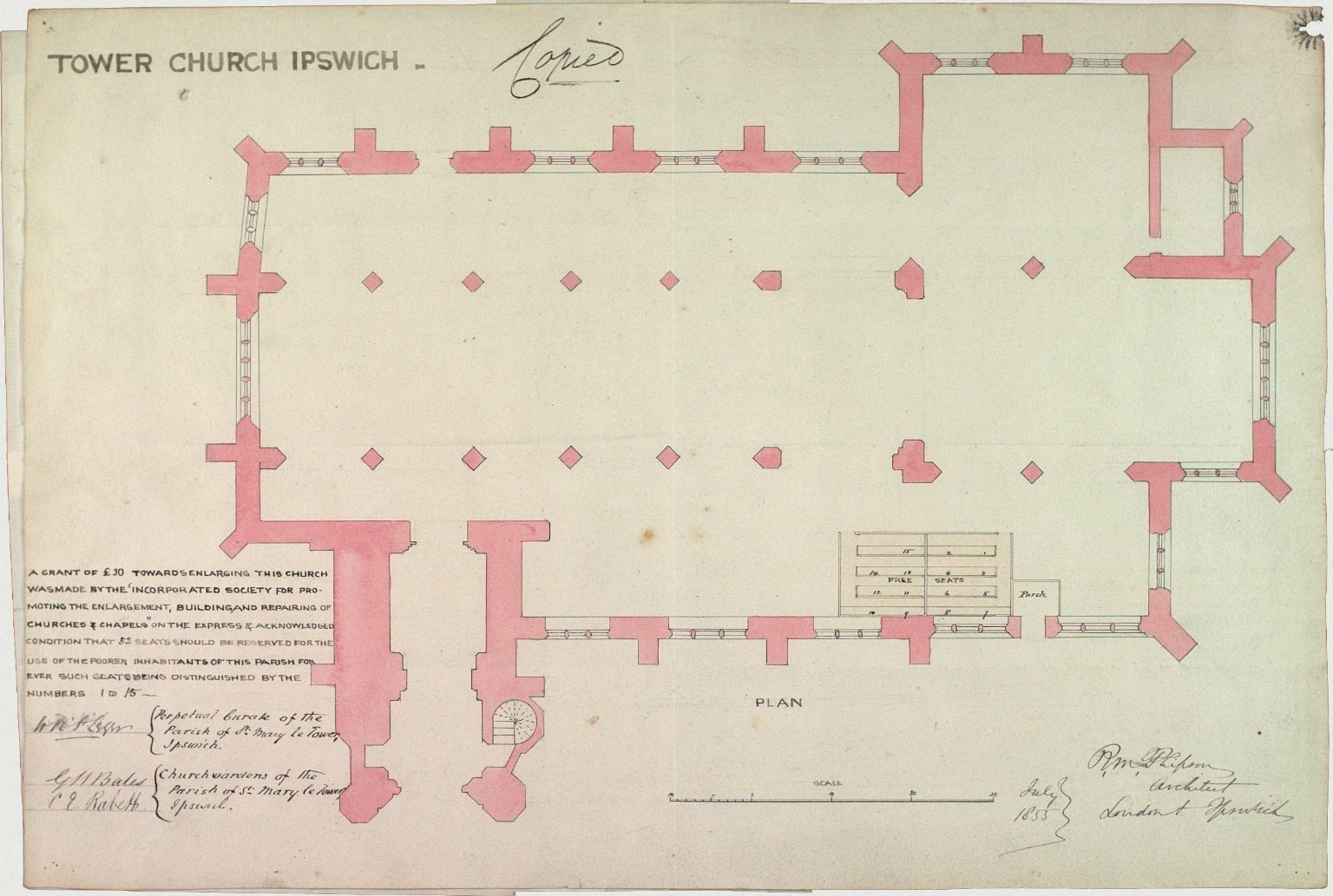 Signed R.M. Phipson, Architect
