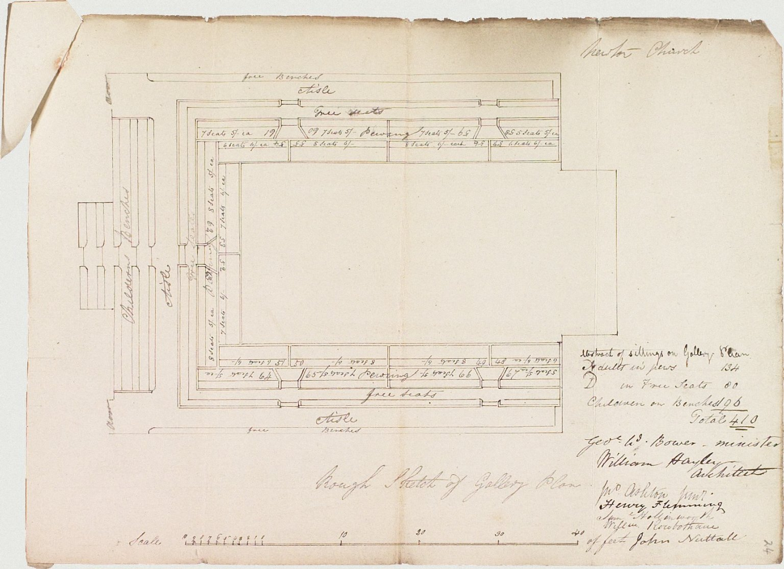 Signed William Hayley, Architect